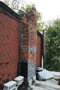 deteriorated roof chimney