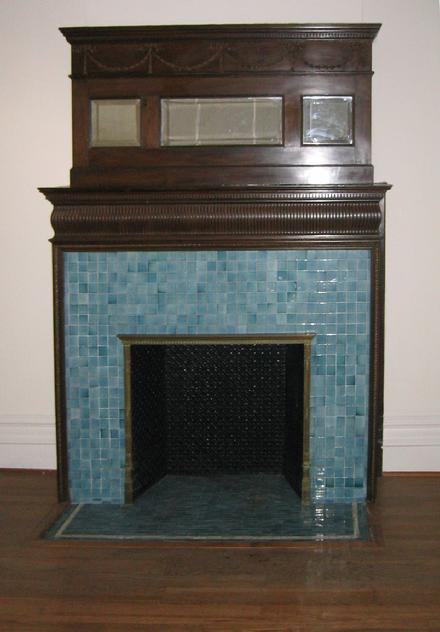 Green Tile Fireplace